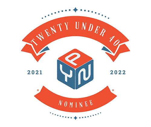 20 under 40 award logo